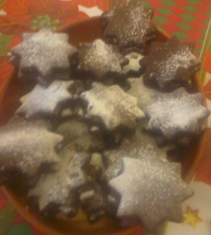 Kakaos linzer csillagok