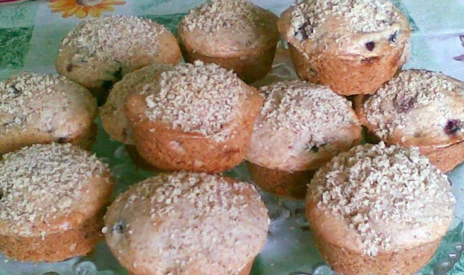 Szolos dios muffin bogres suti
