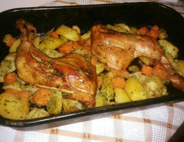 zoldseges csirke