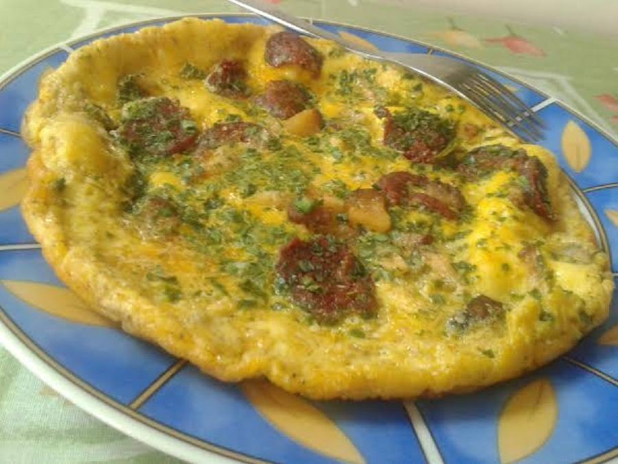 kolbaszos omlett
