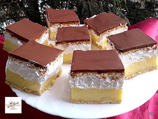 Mézes francia krémes, nagyon ízletes sütemény, ha még nem..